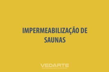 Impermeabilização de Saunas